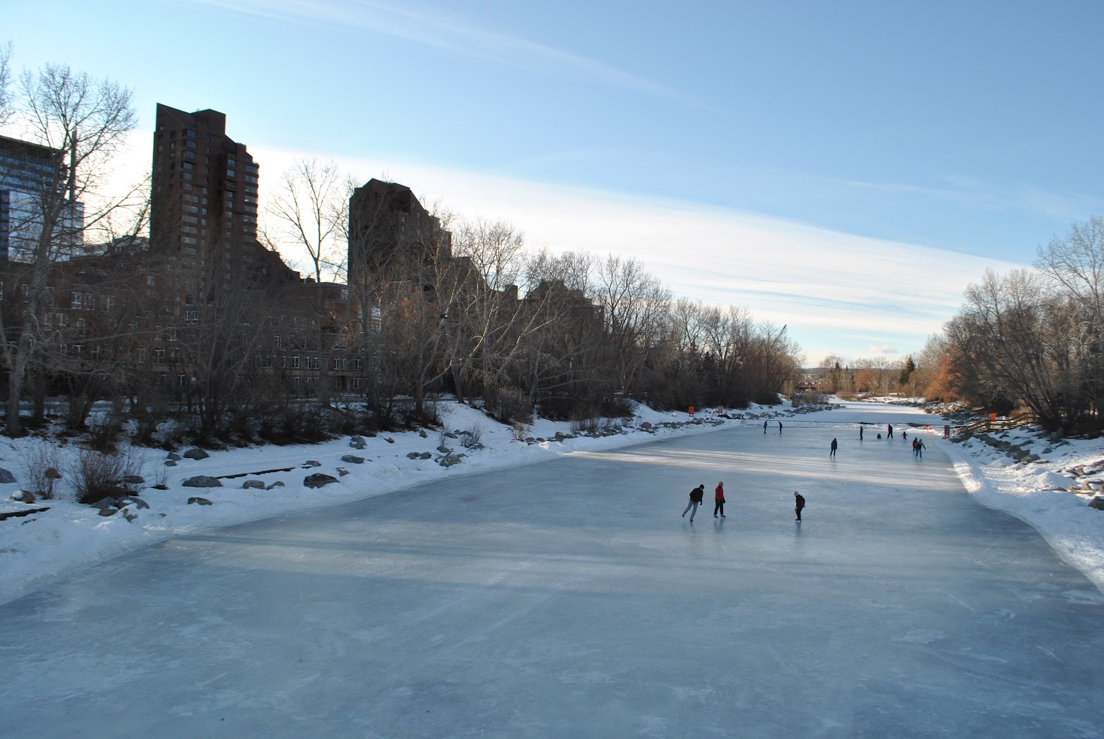 Ice skating in Prince's Island Park
