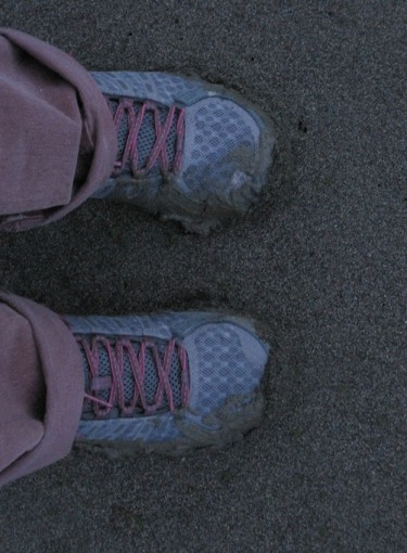 My shoes (and hands) got a bit muddy.